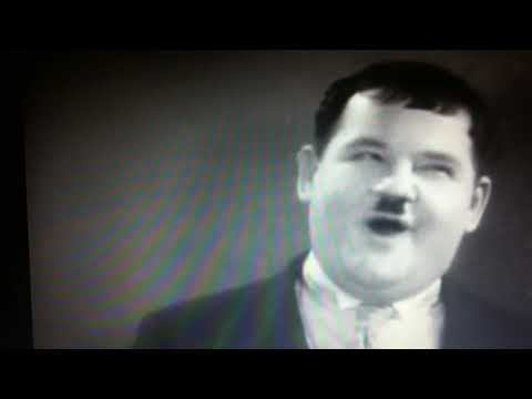 Laurel and Hardy most absurd stunt !