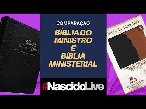 COMPARANDO BÍBLIA DO MINISTRO E MINISTERIAL PT1 - NASCIDOLIVE