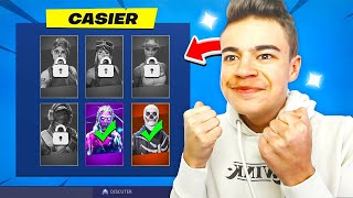 THE SKINS RARES MANQUANTS in my CASIER on FORTNITE!