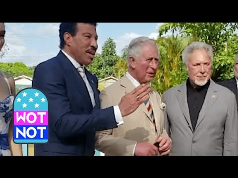 Lionel Richie, Prince Charles & Tom Jones In Barbados For Prince's Trust