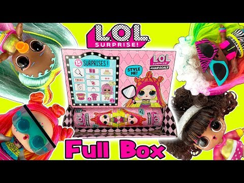 LOL Surprise Dolls Wave 2 Hairgoals FULL BOX Opening!  Rare + Ultra Rare LOL Dolls! - LOL Doll Video
