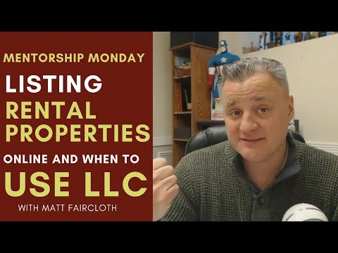 Listing Rental Property Online and When to use an LLC MM 081 with Matt Faircloth