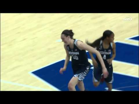Breanna Stewart almost dunks the ball vs SMU