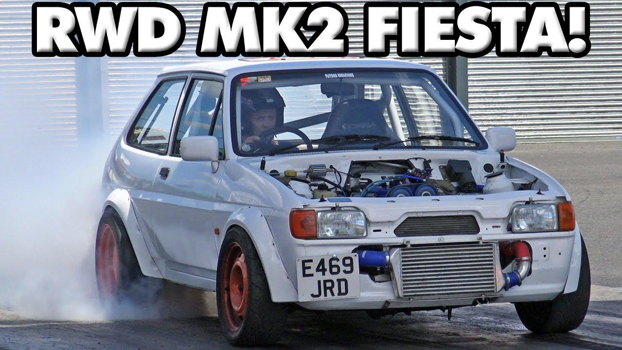 Rwd Zetec Turbo Ford Fiesta Mk2 At Santa Pod Raceway Youtube