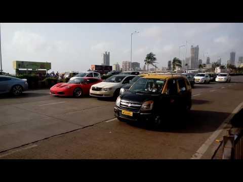 Ferrari car on haji ali dargah road mumbai