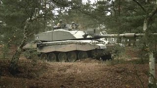 British Army - Challenger 2 Main Battle Tank Stalking Its Target At Exercise Black Eagle [720p]