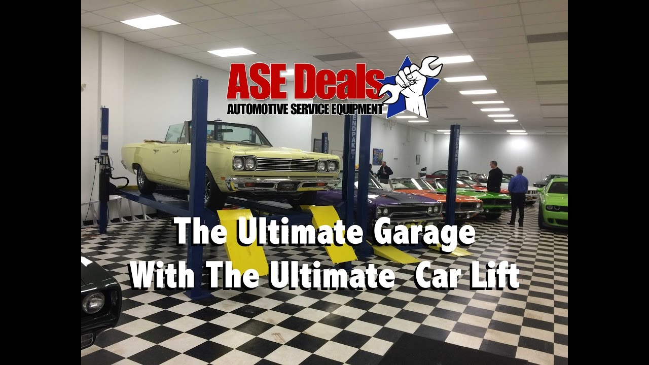 ultimate garage with the ultimate car lift youtube
