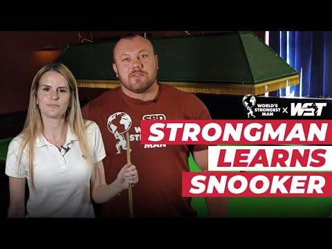 Strongman Learns How To Play Snooker