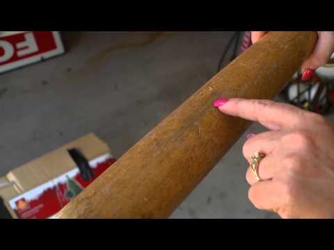 Jackie Robinson bat found on sale for a dollar