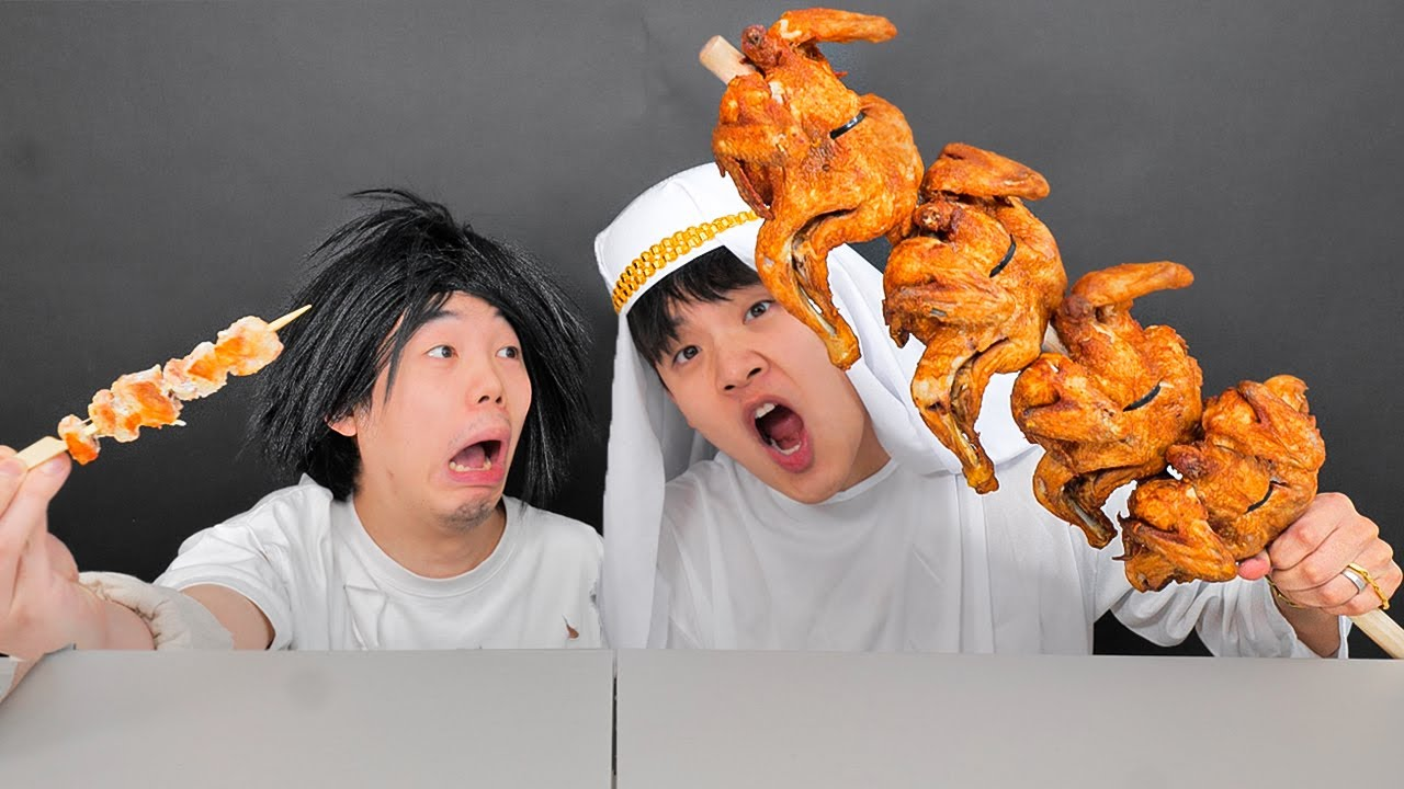 Mukbang Giant Roast Chicken 대왕 닭꼬치 먹방