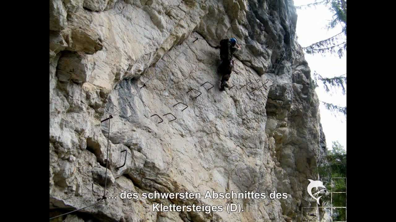 Klettersteig Postalmklamm : Postalmklamm klettersteig youtube