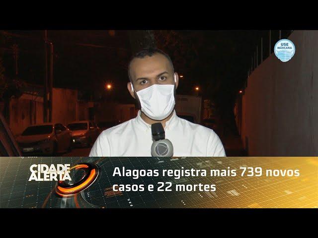 Coronavírus: Alagoas registra mais 739 novos casos e 22 mortes