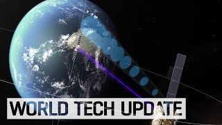 Space laser communications satellite launches
