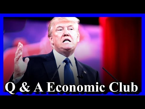 Donald Trump Answers Questions at Economic Club of New York