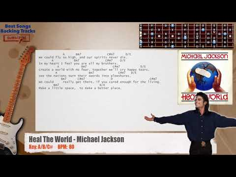 Heal The World - Michael Jackson Guitar Backing Track with chords and lyrics
