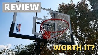 "REVIEW: Spalding NBA 54"" Portable Angled Basketball Hoop with Polycarbonate Backboard"