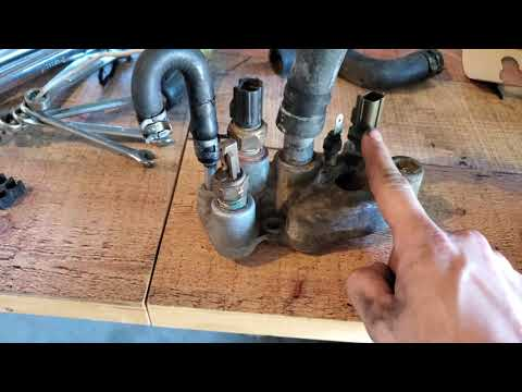 1994 Toyota pickup 4WD V6 3VZE - water/coolant bypass outlet and sensors