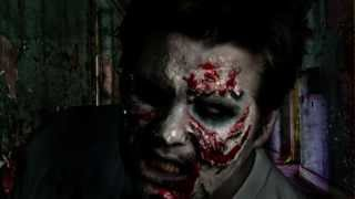 Zombie Makeup How-to, Gory Zombie Part 1 - Halloween Makeup Tutorial