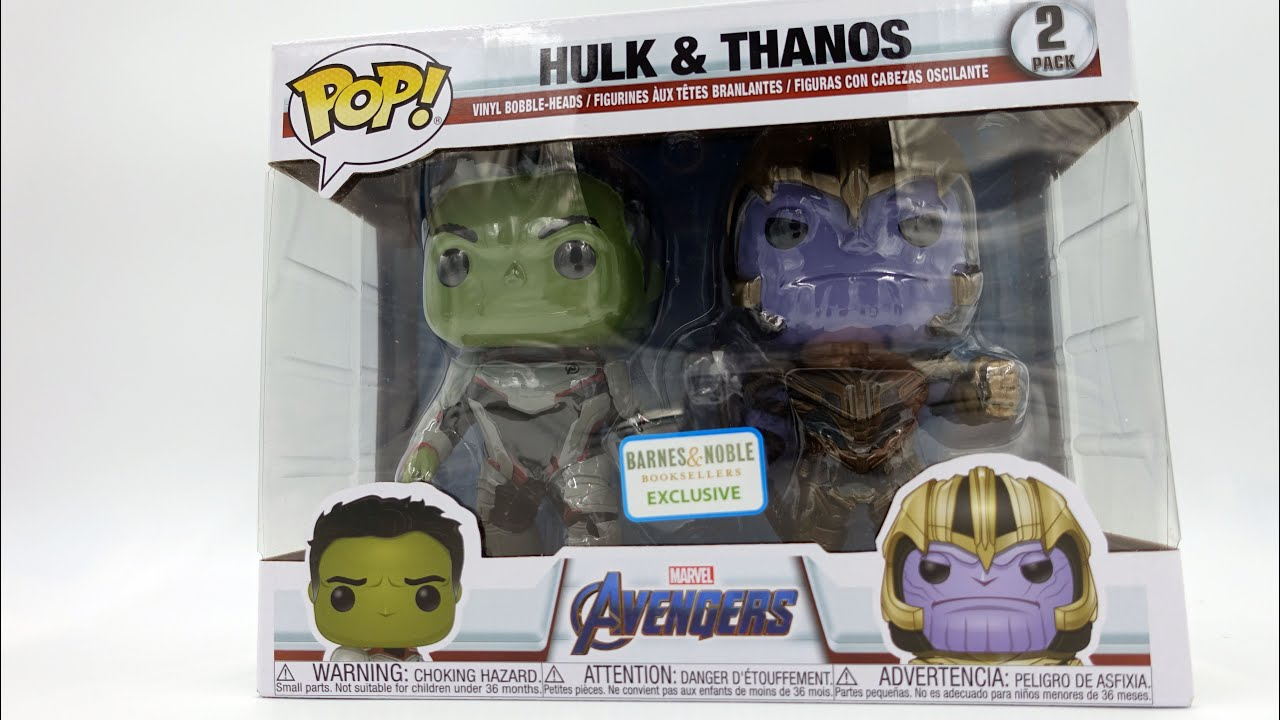 Avengers Endgame - Hulk & Thanos Barnes and Noble Exclusive 2 Pack
