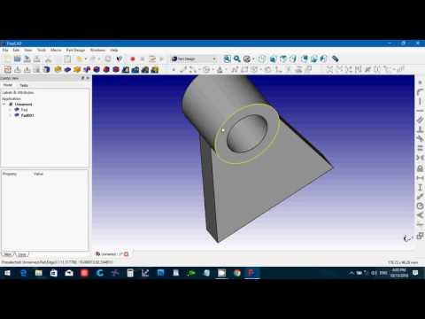 FreeCAD 0.16 Rod Bracket from Solidworks Bible book Tutorial