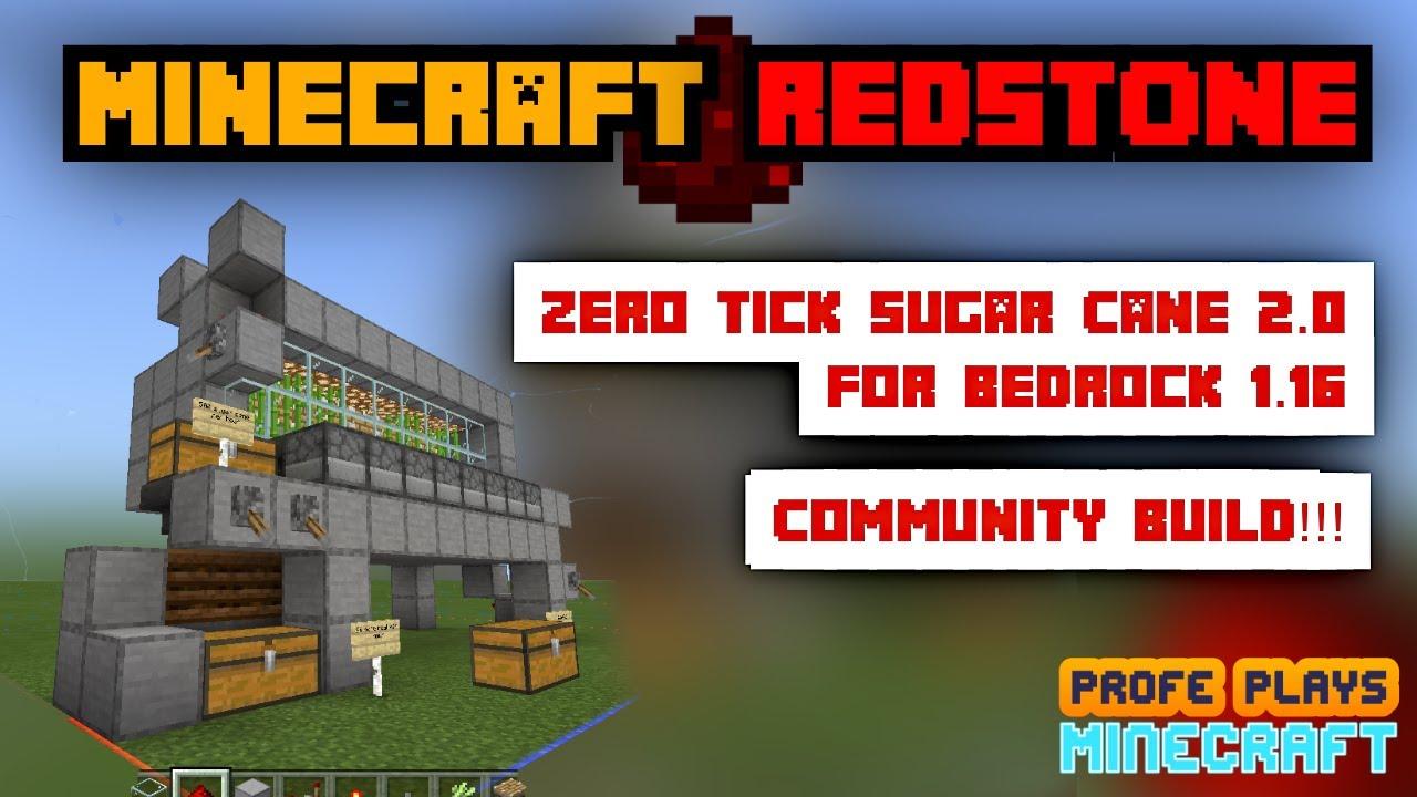Zero Tick Sugarcane Farm for Minecraft Bedrock 8.86 Vers. 8!!! Works on  MCPE / PC / Console