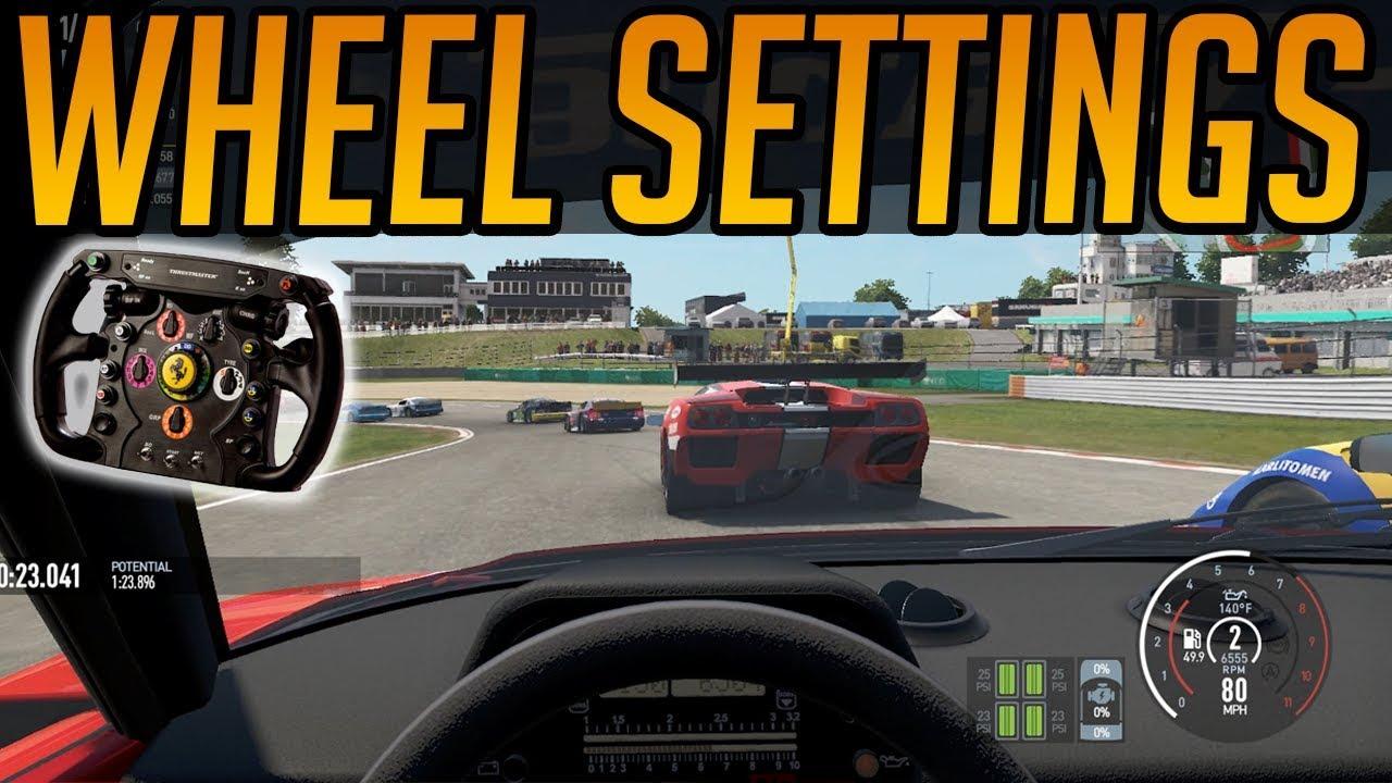 Project Cars 2 - Wheel Settings - YouTube