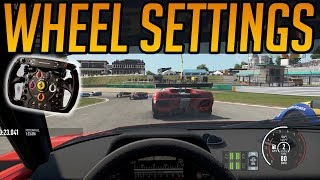 Project Cars 2 - Wheel Settings