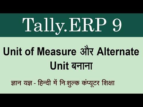 Tally.ERP 9 in Hindi ( Create Unit of Measure, Create Alternate Unit ) Part 91