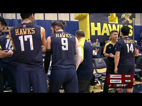 Men's Volleyball - Humber vs. Cambrian 01/22/2017