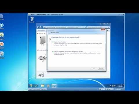 Install a Printer using Windows 7