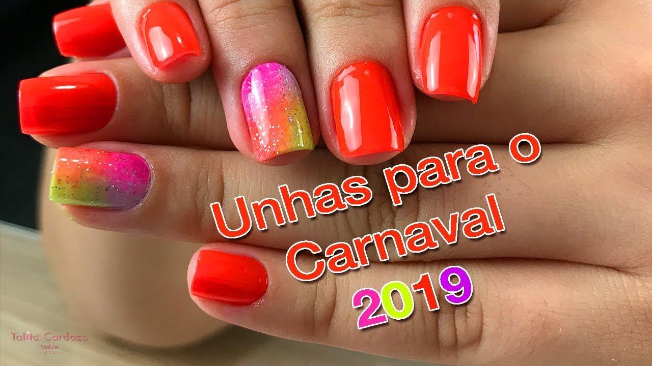 UNHAS DECORADAS CARNAVAL 2019 APRENDA A FAZER