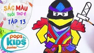 Sắc Màu Tuổi Thơ - Tập 13 - Bé Tập Vẽ Ninja | How To Draw A Ninja