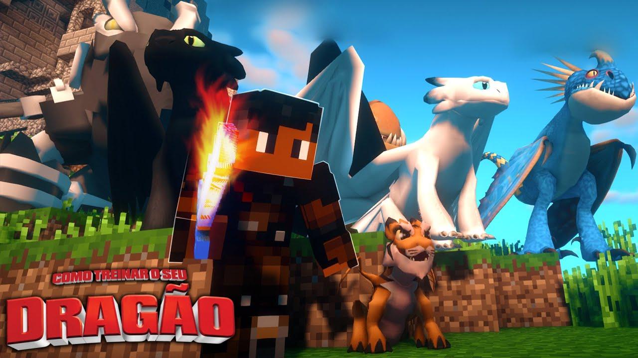 MINHA EQUIPE DE DRAGÕES ! - COMO TREINAR O SEU DRAGÃO #34 - Minecraft