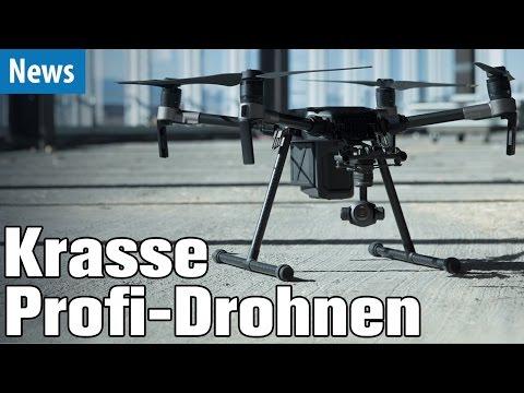 Krasse Profi-Drohnen von DJI mit Wärmebild-Cam, 30fach Zoom, usw.   deutsch / german