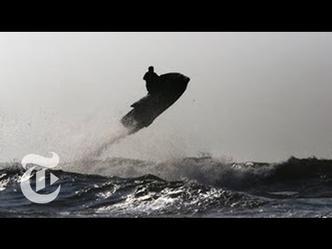 Jet Ski Wave Jumping Around New York City - 2013 | The New York Times