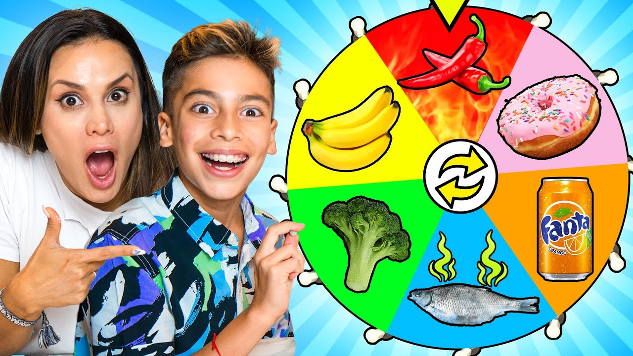 Download SPIN THE WHEEL & EATING Whatever COLOR FOOD it Lands on!   The Royalty Family