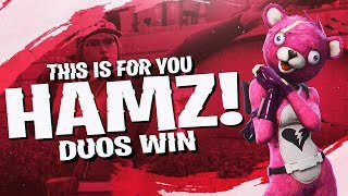 THE GRAPPLER CLUTCH! FUNNY DUOS WITH HAMLINZ (Fortnite BR Full Match)