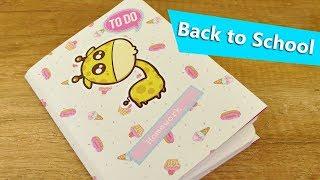 Back to School DIY   Hausaufgabenheft Idee für Kids   Bastel Idee für die Schule mit Pappe