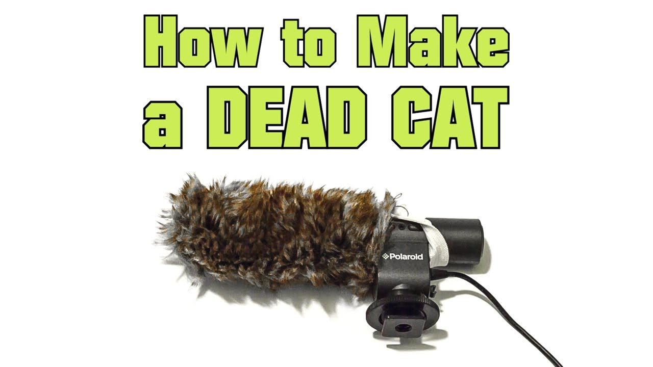 how to make a dead cat microphone wind screen muff diy youtube. Black Bedroom Furniture Sets. Home Design Ideas