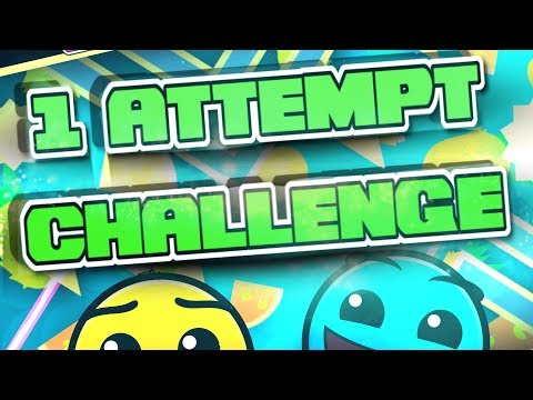 Beating levels in 1 attempt challenge [Geometry Dash 2.1]