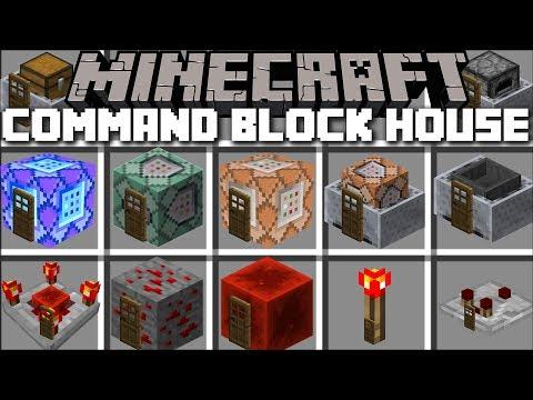 Minecraft COMMAND BLOCK HOUSE MOD / SPAWN INSTANT STRUCTURES IN MINECRAFT !! Minecraft