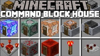 Minecraft COMMAND BLOCK HOUSE MOD / SPAWN INSTANT STRUCTURES IN MINECRAFT !! Minecraft