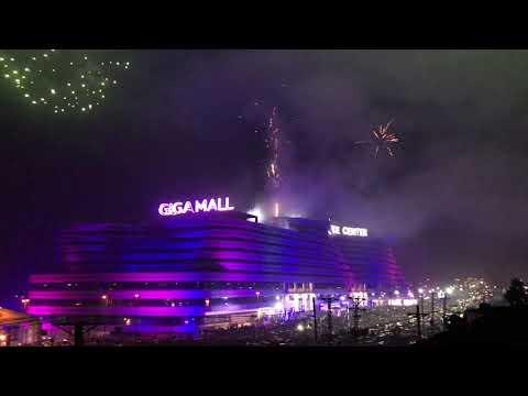 Best New Year Fireworks in Pakistan 2019 | GIGA MALL World Trade Center Pakistan