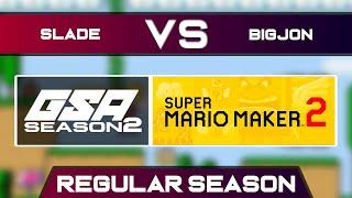 Slade vs BigJon | Regular Season | GSA SMM2 Endless Mode Speedrun League DB Season 2