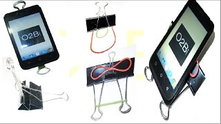 Binder clip Smartphone stand: 10 Amazing phone holder.