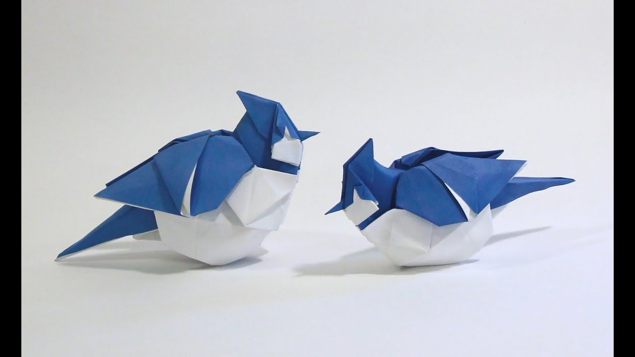 How to make an Origami Blue Jay - YouTube - photo#36