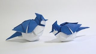 How to make an Origami Blue Jay