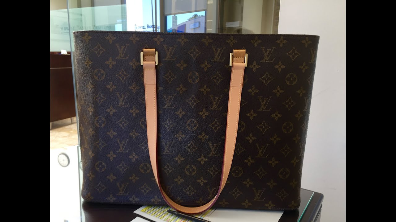 8862c794f2a2 Retired Louis Vuitton Luco Tote - Review and What Fits Inside - YouTube