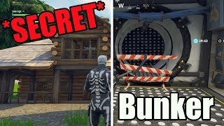 SECRET Bunker Underneath Cabin! Wailling Woods EasterEgg! Fortnite Battle Royale Season 6