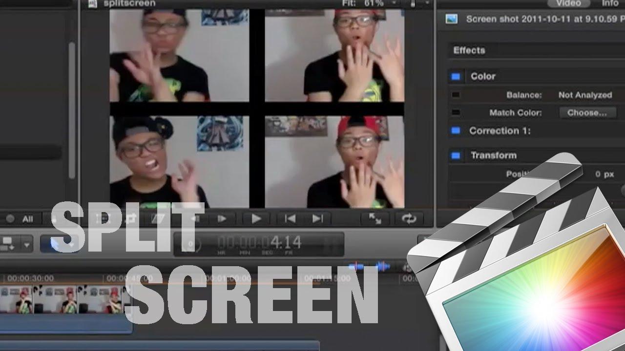How to Split Screen on Final Cut Pro X - YouTube